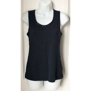 Banana Republic Navy Luxe Touch Silk Trim Tank Top